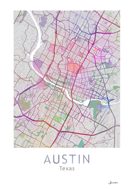 Austin Map in Color