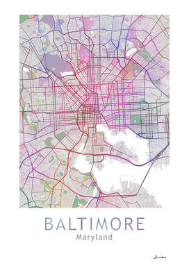 Baltimore Map in Color