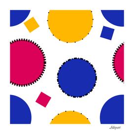 circles seamless pattern tileable