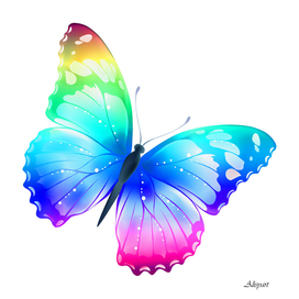 Transparent Multi Color Butterfly