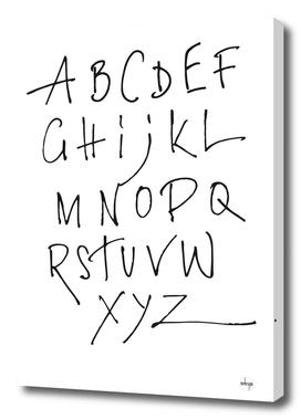 Black Alphabet On White