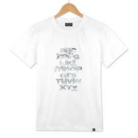 Grunge Alphabet Grey