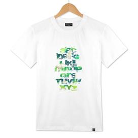 Grunge Alphabet Green