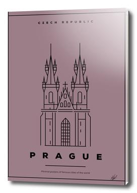 Minimal Prague City Poster