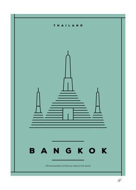 Minimal Bangkok City Poster