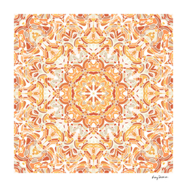 Orange and Apricot Floral Mandala