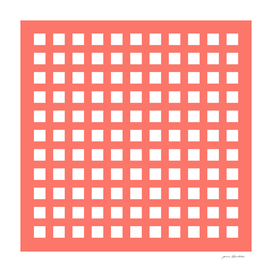 Retro thick coral grid pattern