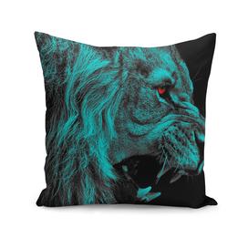 Angry male lion predator carnivore
