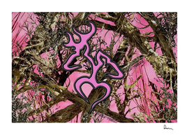 Pink browning deer glitter camo