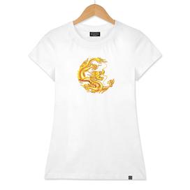 chinese dragon golden