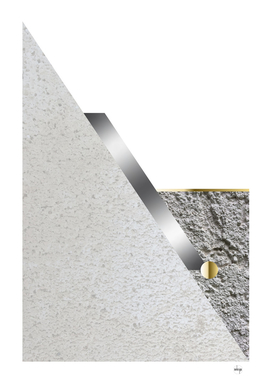 Light Grey Stone Cubism