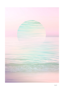 Dreamy Pastel Seascape Sunset