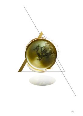 Triangular Entangled Moon White