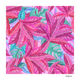 leaves tropical reason stamping