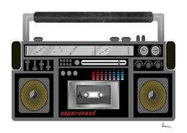 radio cassette player cassette tape