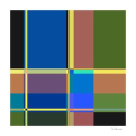 BLUE GREEN BLOCK STRIPES DESIGN