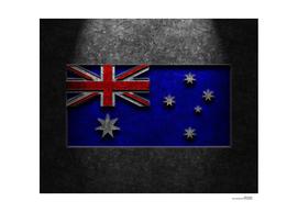 Australian Flag Stone Texture