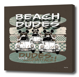 Beach Dudes Vol2 on cardboard vintage