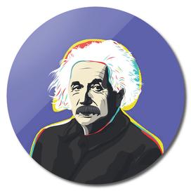 Albert Einstein pop-art quote portrait