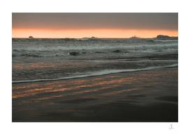 Sunset on the Beach, California