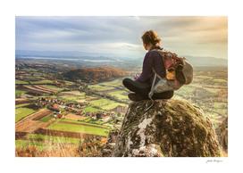 Girl and Landscape