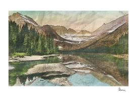 glacier national park scenic view