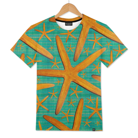 """""""Starfish in Turquoise and Mustard"""""""