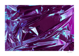 Abstract crumpled foil background. Neon colors.