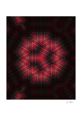 Red and black geometrical design