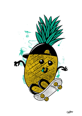 Pineapple Skateboarding