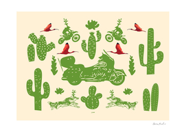 Cactus, Bikes, Wolfs and Ibises