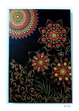 flower dotting art