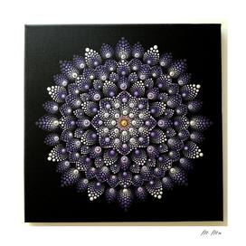 dotting purple flower