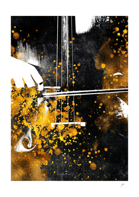 Violin music art gold and black #violin #music