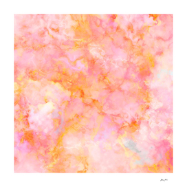 Rosé and Sunny Marble - pink, coral and orange