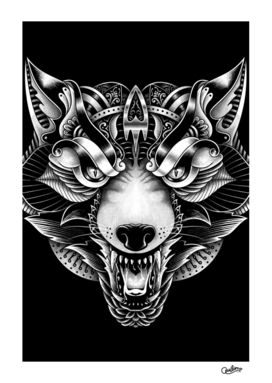 Angry Wolf Ornate