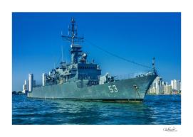Army Ship in Caribbean Sea, Cartagena - Colombia