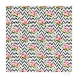 zig zag stripes floral pattern