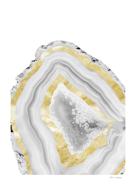 Agate Gold Foil Glam #3 #gem #decor #art