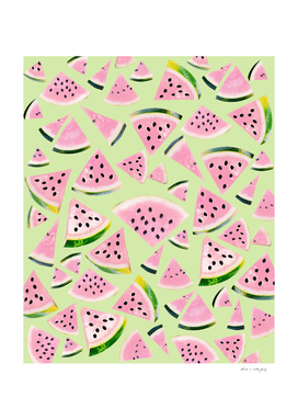 Watermelon Twist Vibes #1 #tropical #fruit #decor #art