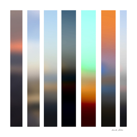 Artistic Vertical Strips in Beautiful Mix of Colors