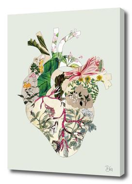 Vinatge Botanical Heart - Green