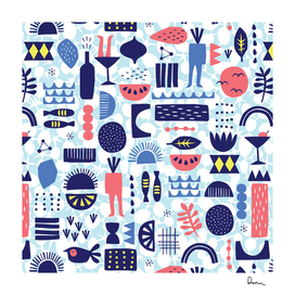 Vector illustrated pattern design