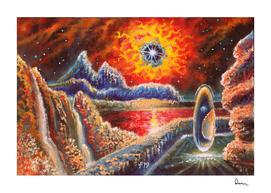 Sci Fi  Landscape Painting