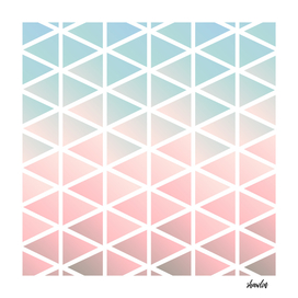 Chalky pastel mod triangles