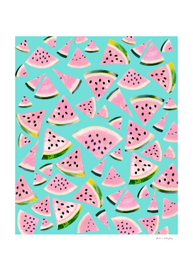 Watermelon Twist Vibes #2 #tropical #fruit #decor #art