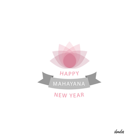 Happy Mahayana new year- Buddhist New Year greetings