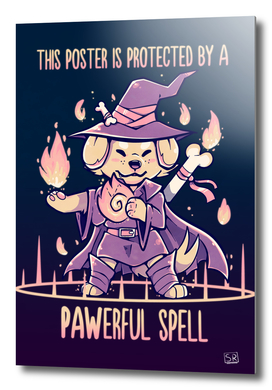This Poster is Protected by a PAWerful Spell