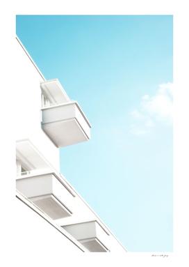 Minimal White Balcony Dream #1 #wall #decor #art