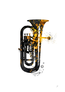 Euphonium music art gold and black #euphonium #music